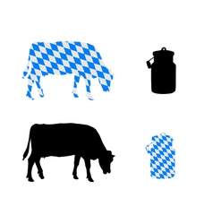 Bavarian milk cow vector