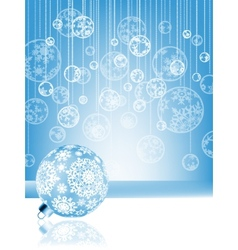 Blue christmas card with baubles eps 8 vector