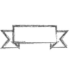 Blurred silhouette of label border rectangular vector