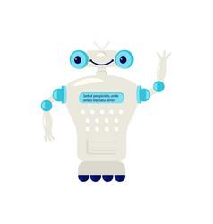 Cartoon cute chat bot vector