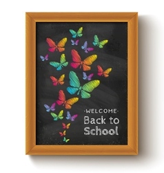 chalkboard butterfly vector image vector image