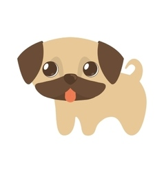 cute puppy little tongue out vector image