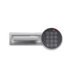 Digital lock for safe or door on a white vector