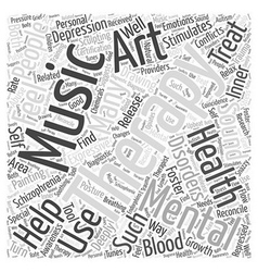 Expressive therapies in mental health word cloud vector