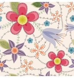 Flowers pattern vintage vector image