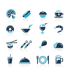 Food Icons 2 Azure Series vector image
