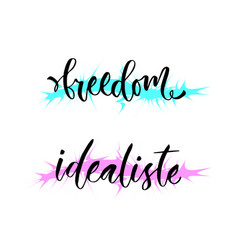 Freedom and idealiste holland world idealist vector