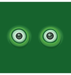 Green Background with Cartoon Eyes vector image vector image