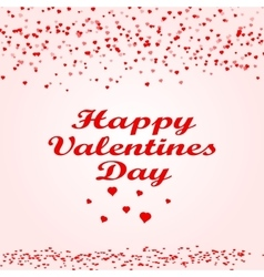 Happy Valentine s day card hearts vector image