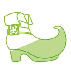 Irish elf boot vector