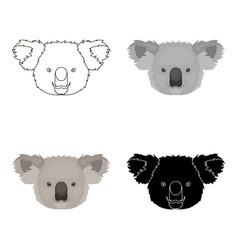Koala icon in cartoon style isolated on white vector