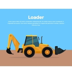 Loader banner flat design vector
