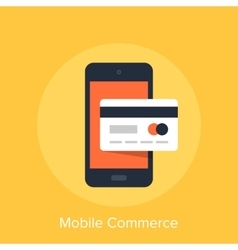 Mobile Commerce vector image