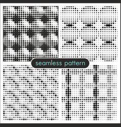Seamless patterns with halftone dots 4 vector