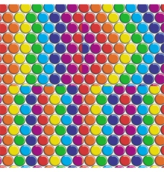 Set of seamless patterns with rainbow candy button vector image vector image