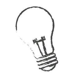 sketch bulb light electric lamp vector image
