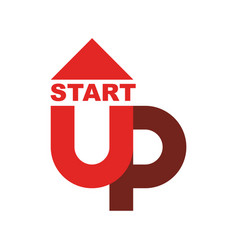start up logo startup emblem running business vector image