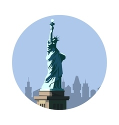 Statue of liberty icon american sign vector