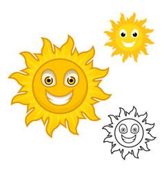 Sun Cartoon Character vector image