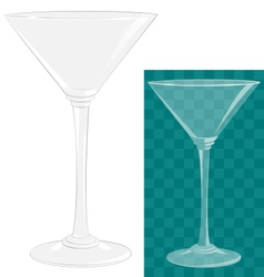 Transparent isolated martini glass vector