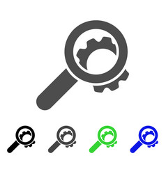 View configuration gear flat icon vector