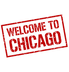 Welcome to chicago stamp vector