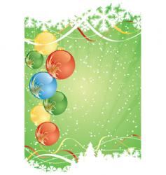 winter green decorative vector image vector image