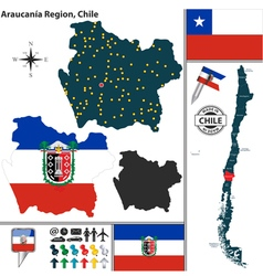 Map of Araucania vector image