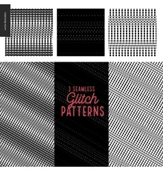 Glitch patterns set vector image