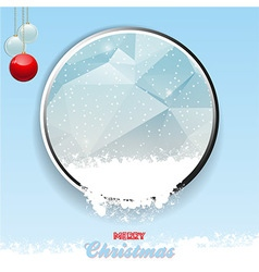 Merry christmas border with ice and snow vector