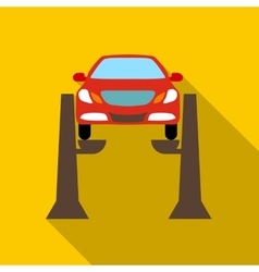 Car lifting icon flat style vector
