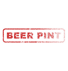 Beer pint rubber stamp vector