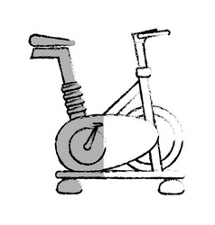 Spinning bike isolated icon vector