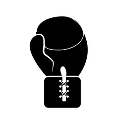 Contour boxing glove icon vector