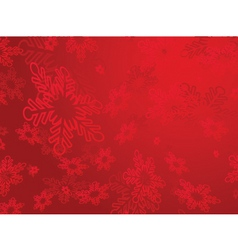 snowflakes red vector image