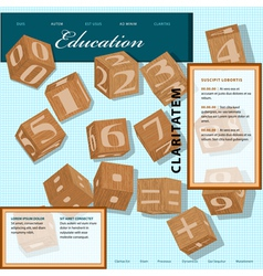 Template for education site vector