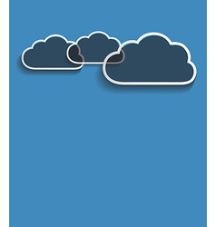 Grey clouds vector