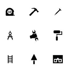 repair 9 icons set vector image