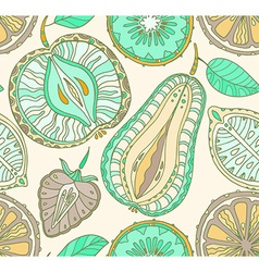 Seamless fruits pattern abstract background with vector