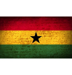 Flags ghana with dirty paper texture vector