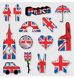 Great britain stickers vector