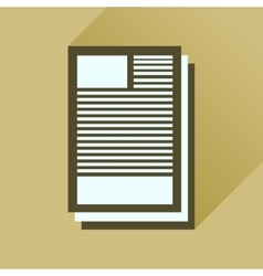 Flat icon with long shadow business paper vector
