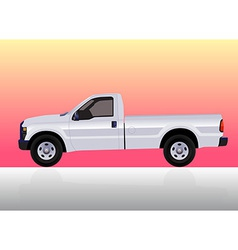 Pick-up truck white vector