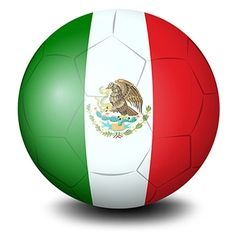A soccer ball with the mexican flag vector