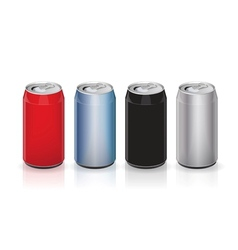 Aluminum drink cans vector image vector image