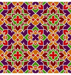 Background with seamless pattern in islamic style vector