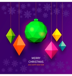 Bright christmas balls vector