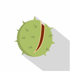 chestnut icon flat style vector image