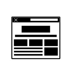 computer window system vector image