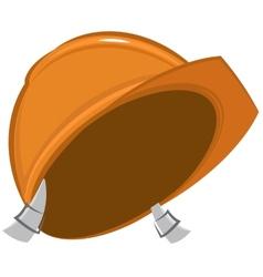 Construction helmet vector image